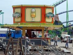 Aufbau Kirmes Oberhausen 2007